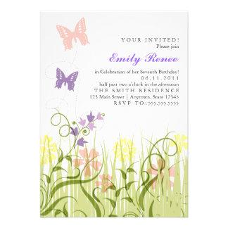 Butterfly Garden in Pastel Announcement