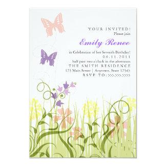 Butterfly Garden in Pastel 5x7 Paper Invitation Card