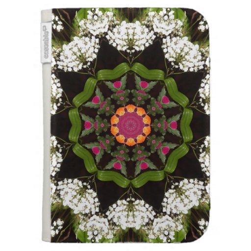 Butterfly Garden Kaleidoscope Kindle Case Zazzle