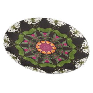 Butterfly Garden Kaleidoscope Plate