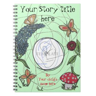 Butterfly Garden, Kids Illustrated Storybook Spiral Notebook