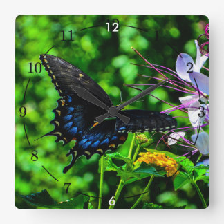 Butterfly Garden Moment Square Wall Clock
