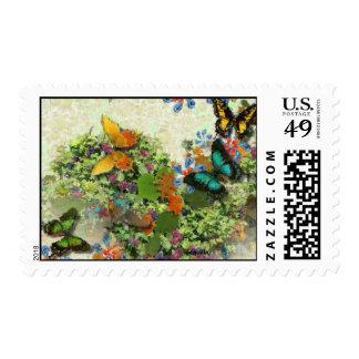 BUTTERFLY GARDEN MP211 Design Stamp