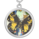 BUTTERFLY GARDEN NL3 Yellow Black Butterfly Design Necklaces