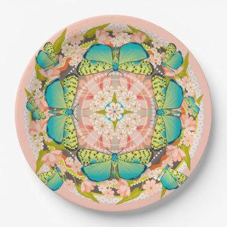 Butterfly Garden Paper Plate