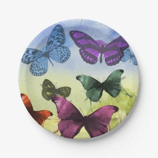 Butterfly Garden Paper Plates