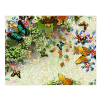 BUTTERFLY GARDEN PC3 Design Postcard