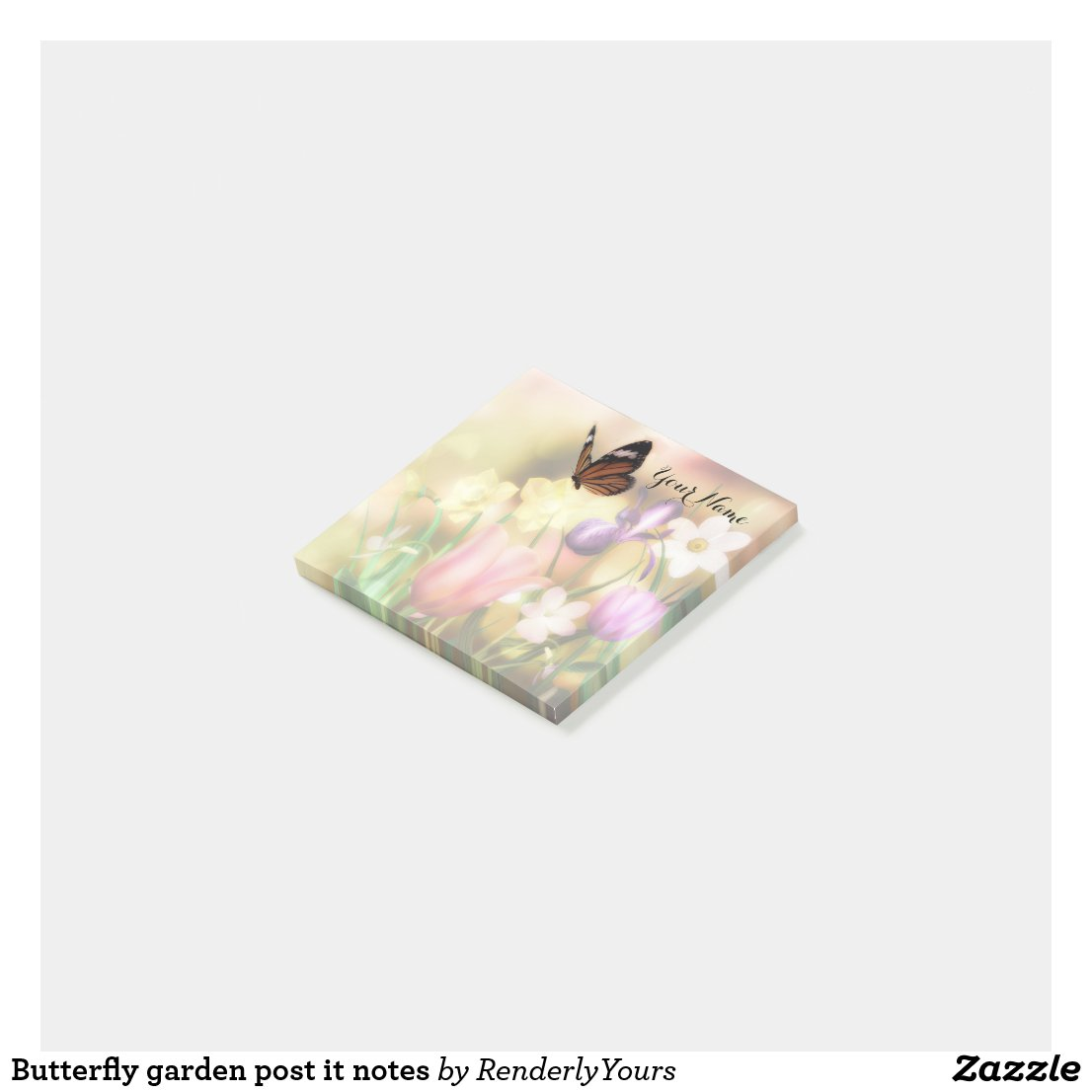 Butterfly garden post it notes