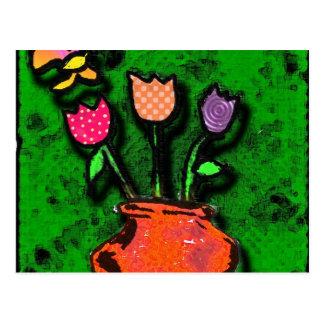 butterfly garden postcard