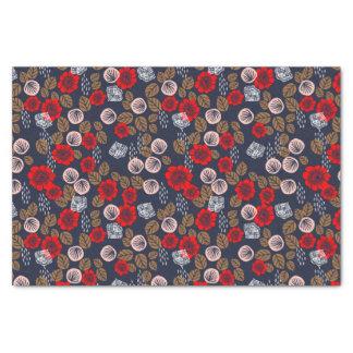 "Butterfly Garden Red Pink Blue Brown Andrea Lauren 10"" X 15"" Tissue Paper"
