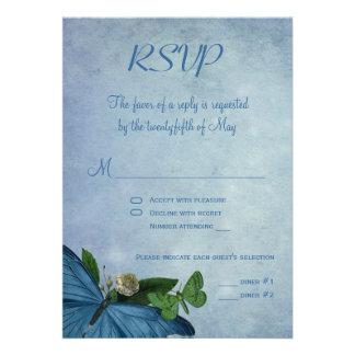 Butterfly Garden RSVP Wedding Invite