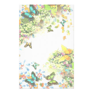 BUTTERFLY GARDEN S1 Design Stationery Paper