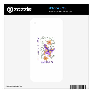 BUTTERFLY GARDEN DECALS FOR iPhone 4