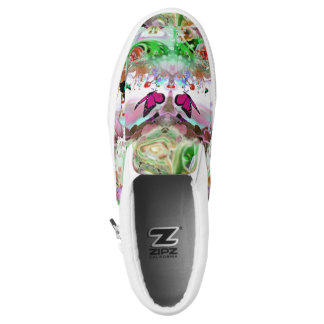 BUTTERFLY GARDEN SLIP ON SHOES PRINTED SHOES