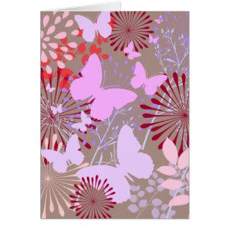 Butterfly Garden Spring Flower Design Card
