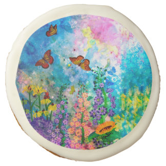 Butterfly Garden Sugar Cookie