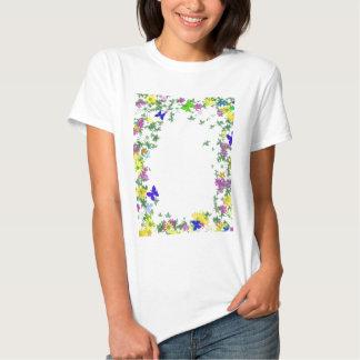 Butterfly Garden Template Tee Shirt
