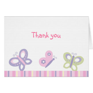 Butterfly Garden Thank You Note Cards