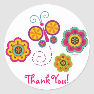 Butterfly Garden Thank You Sticker