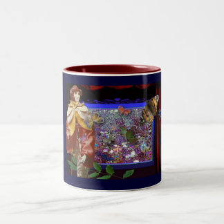 Butterfly-garden Two-Tone Coffee Mug