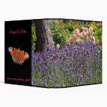 butterfly garden vinyl binders