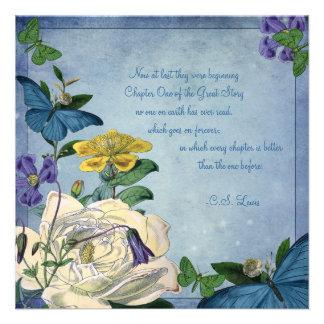 Butterfly Garden Wedding Invitation