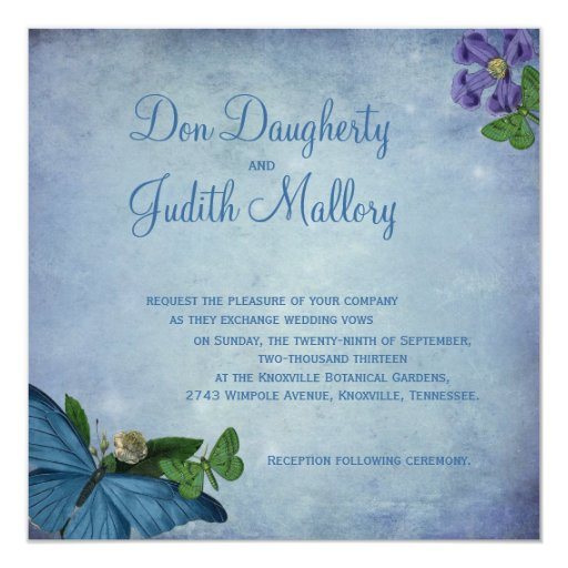 Butterfly Garden Wedding Invitation Zazzle
