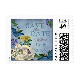 Butterfly Garden Wedding Save the date Postage Stamp