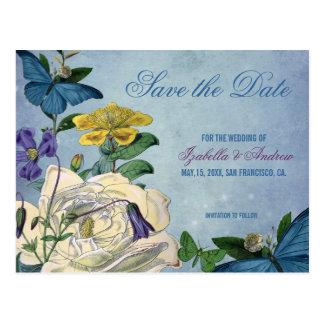 Butterfly Garden Wedding Save the Date Postcard
