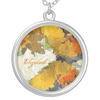 BUTTERFLY GARDEN Yellow Butterfly Design Round Pendant Necklace