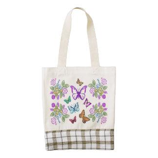 Butterfly Garden Zazzle HEART Tote Bag