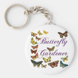 Butterfly Gardener Saying Basic Round Button Keychain