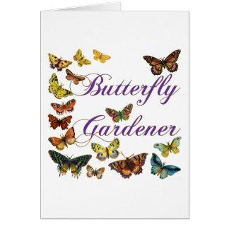 Butterfly Gardener Saying Card