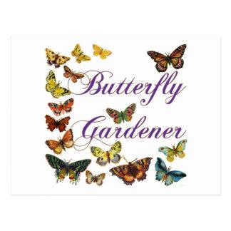 Butterfly Gardener Saying Postcard