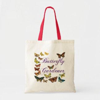 Butterfly Gardener Saying Tote Bag