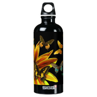Butterfly Gardens Aluminum Water Bottle