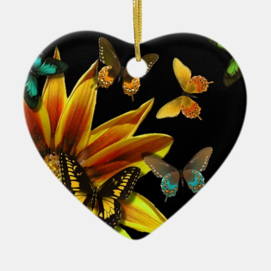 Butterfly Gardens Ceramic Ornament