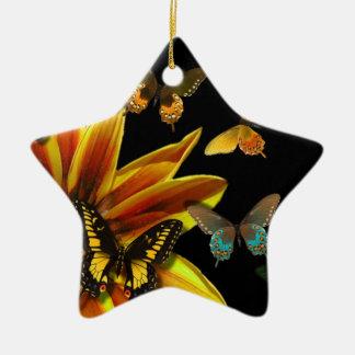 Butterfly Gardens Ceramic Ornament