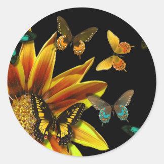 Butterfly Gardens Classic Round Sticker