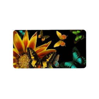 Butterfly Gardens Label