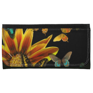 Butterfly Gardens Leather Wallet