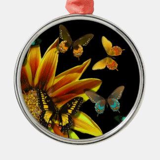Butterfly Gardens Metal Ornament