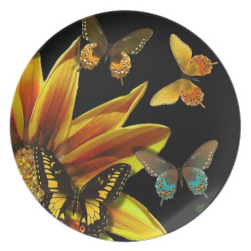 Butterfly Gardens Party Plate