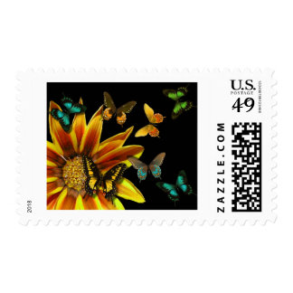Butterfly Gardens Postage Stamp
