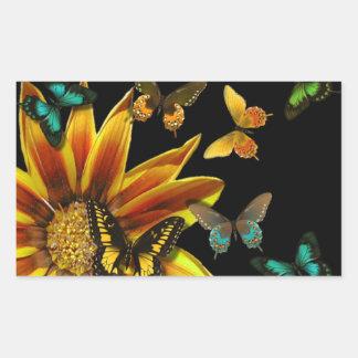 Butterfly Gardens Rectangular Sticker
