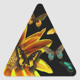 Butterfly Gardens Triangle Sticker