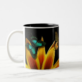 Butterfly Gardens Two-Tone Coffee Mug