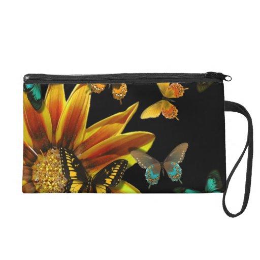 Butterfly Gardens Wristlet Clutches