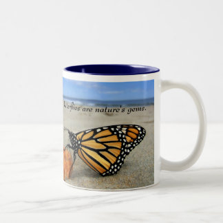 Butterfly gems - blue  by TDGallery Coffee Mugs