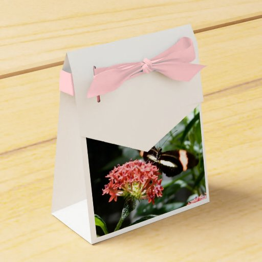 Wedding Favor Boxes Trinidad : Butterfly gift box goodie bag wedding favor zazzle